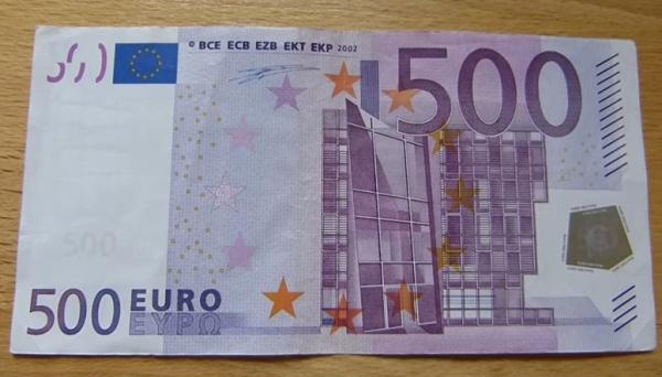 Bankovka 500 EUR