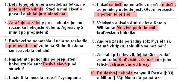 Bulvárny odpad na Cas.sk