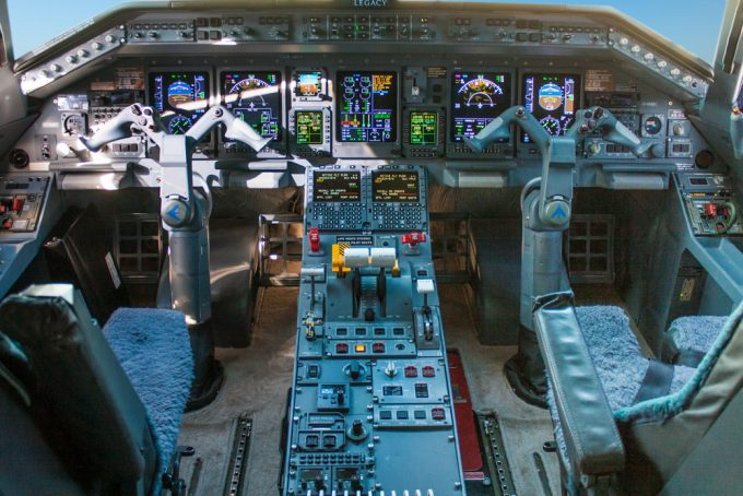 lietadlo cockpit