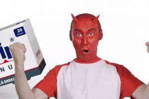 červený diabol v reklame