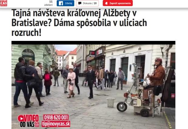 Tajná návšteva kráľovnej Alžbety v Bratislave? Dáma spôsobila v uliciach rozruch!