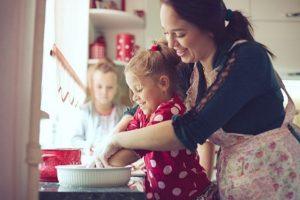 Spoločné pečenie, rodina deti